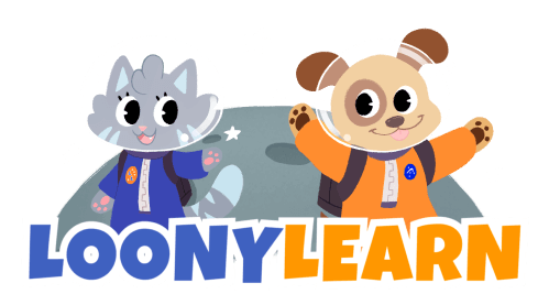 loonylearn astronouts on the moon